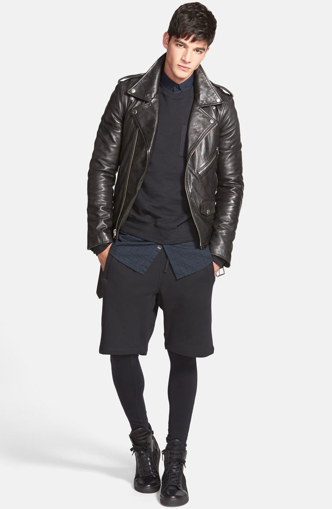 Alternate Image 3  - BLK DNM 'Leather Jacket 5' Leather Moto Jacket