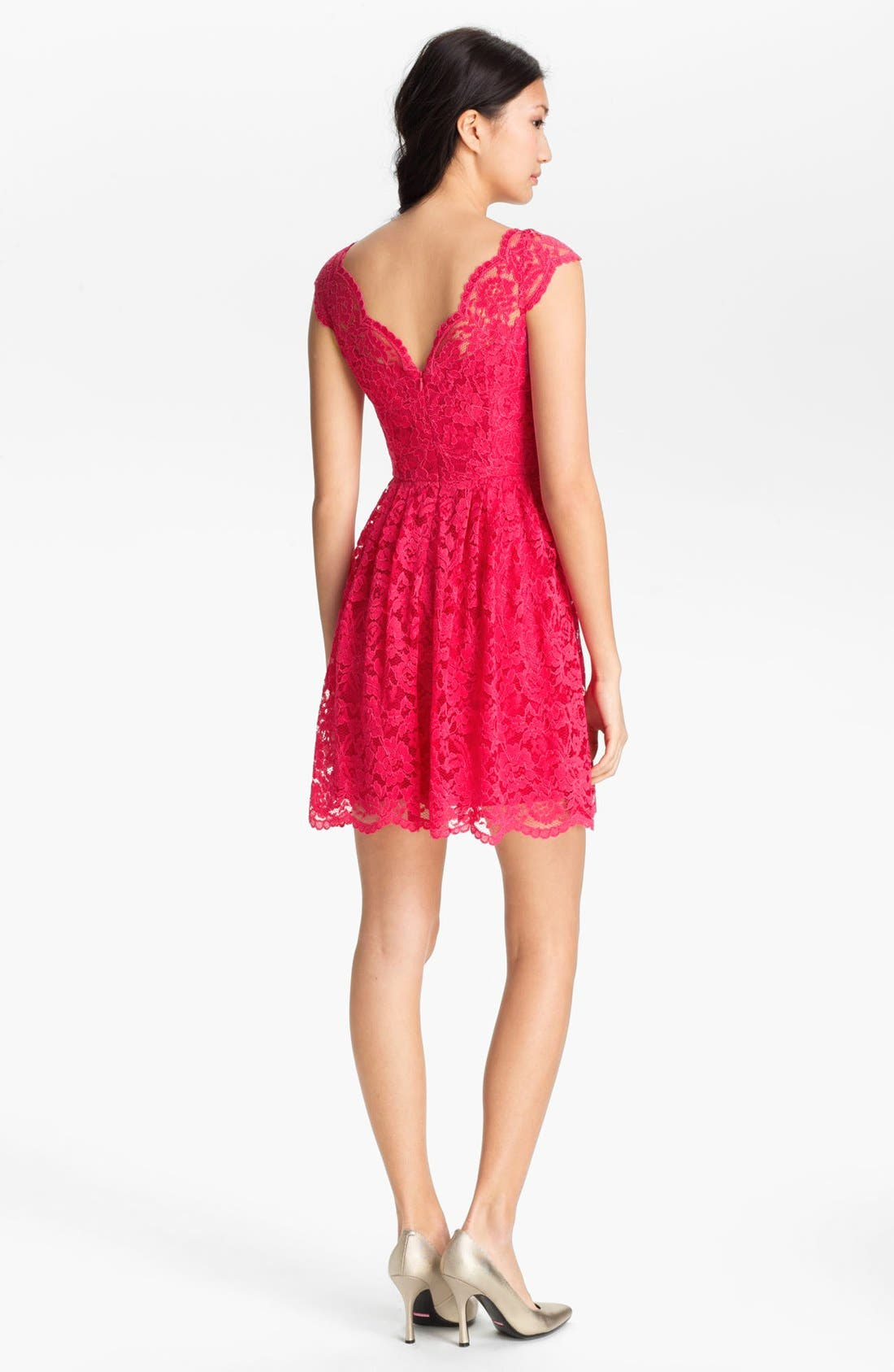 Alternate Image 2  - Cynthia Steffe Lace Fit & Flare Dress