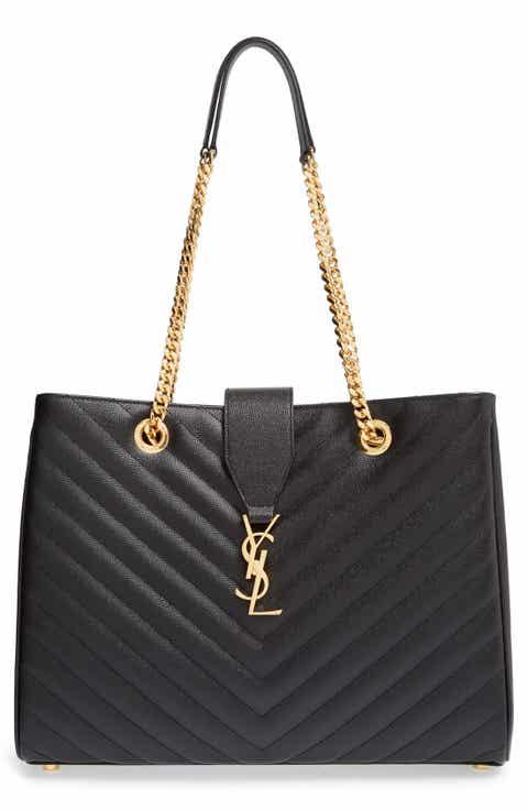 Saint Laurent 'Monogram' Grained Leather Shopper