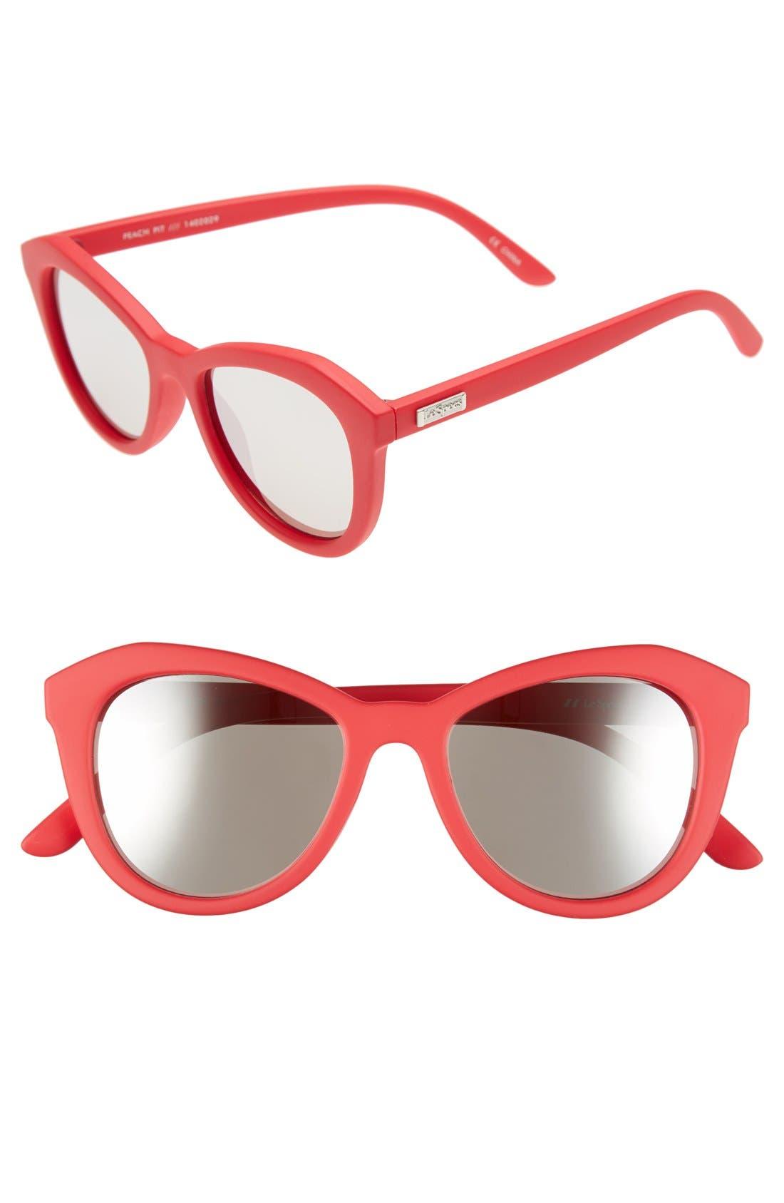 Alternate Image 1 Selected - Le Specs 'Peach Pit' 52mm Cat Eye Sunglasses