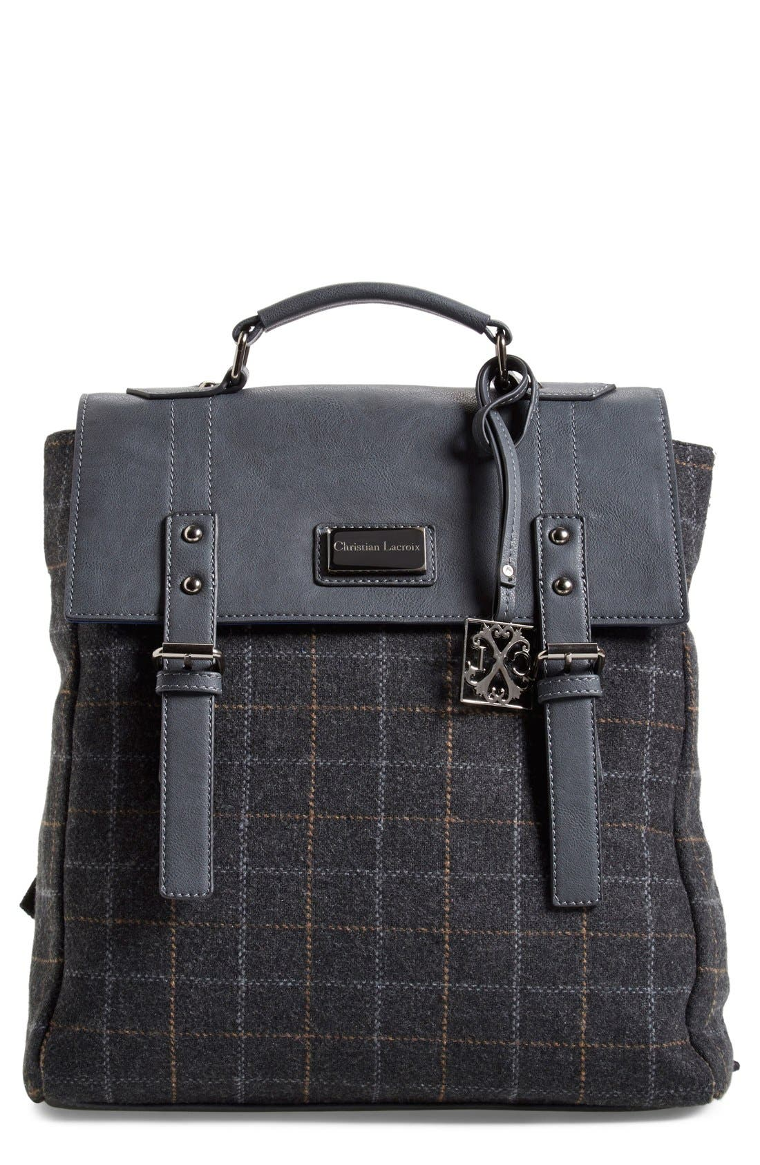 Alternate Image 1 Selected - CXL by Christian Lacroix 'Strasbourg' Plaid Backpack