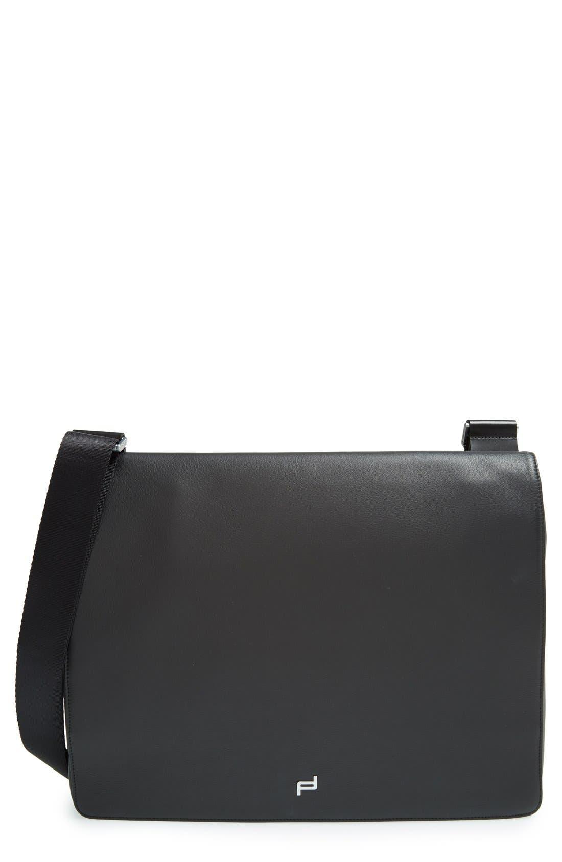 PORSCHE DESIGN 'Shyrt' Leather Messenger Bag