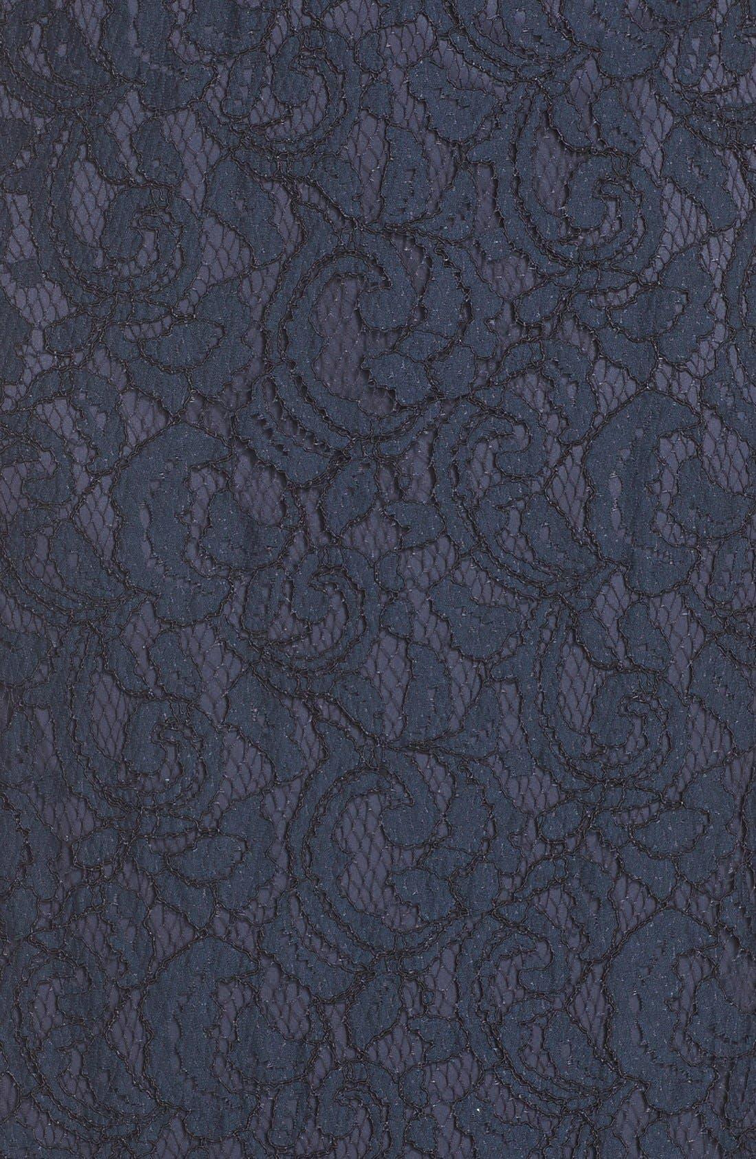 Alternate Image 3  - Tadashi Shoji Illusion Lace Gown (Regular & Petite)