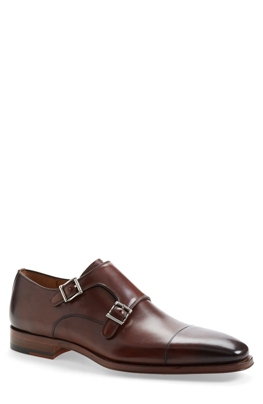 MAGNANNI 'Cortillas' Double Monk Strap Leather Shoe