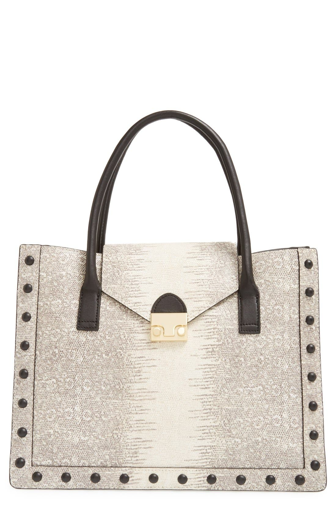 Alternate Image 1 Selected - Loeffler Randall 'Work' Lizard Embossed Tote