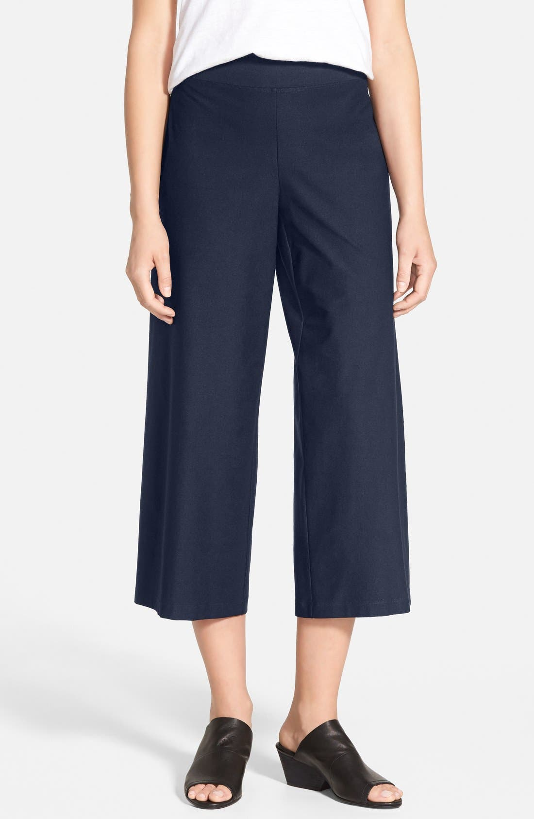 Eileen Fisher Wide Leg Crop Pants (Regular & Petite) (Online Only)