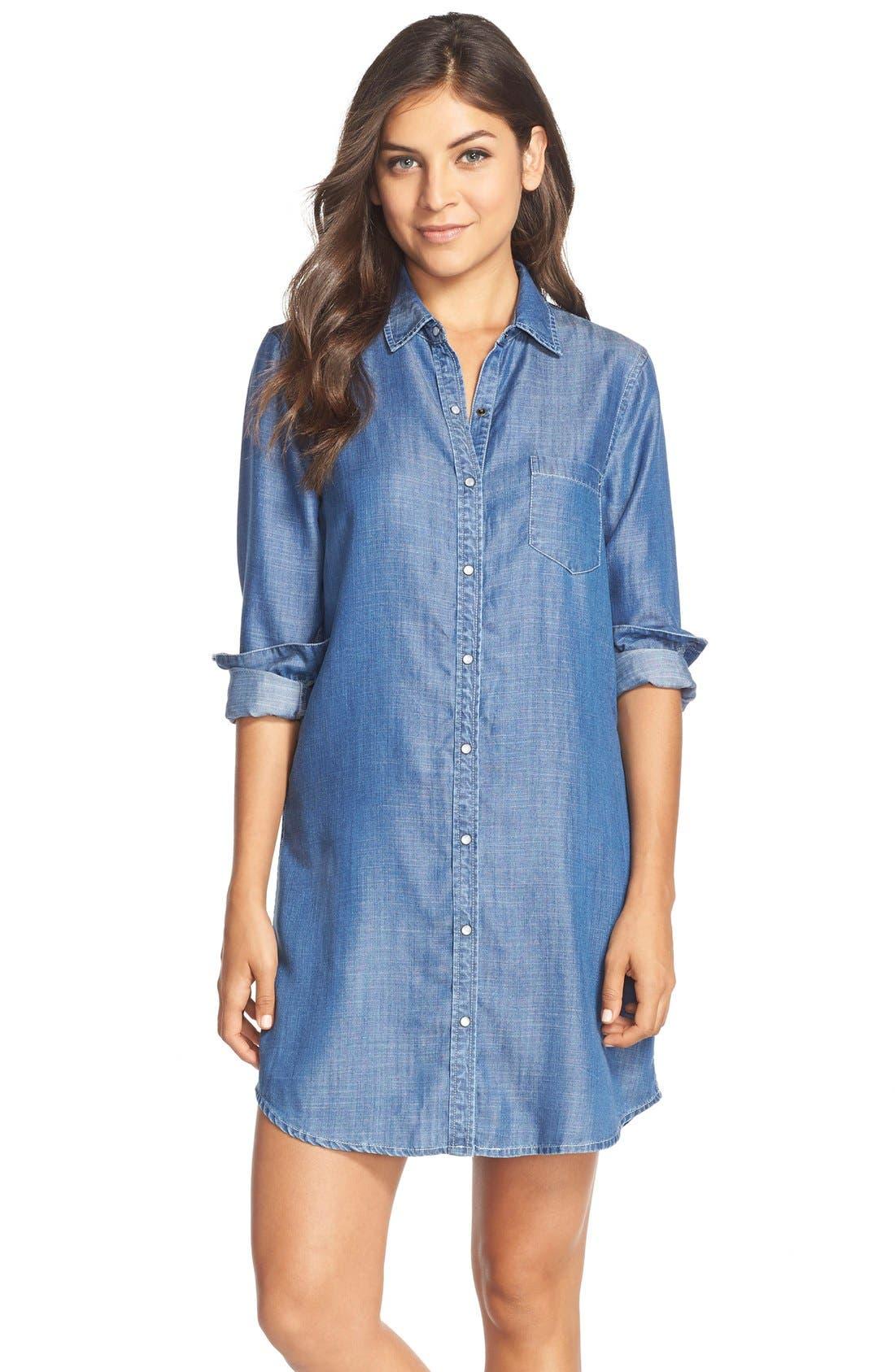 Alternate Image 1 Selected - Tart 'Jenine' Chambray Shirtdress