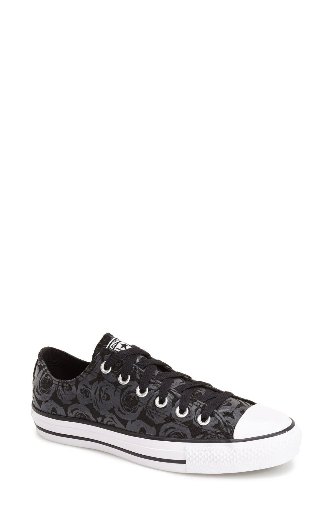 Alternate Image 1 Selected - Converse Chuck Taylor® All Star® 'Ox - Rose Print' Low Top Sneaker (Women)