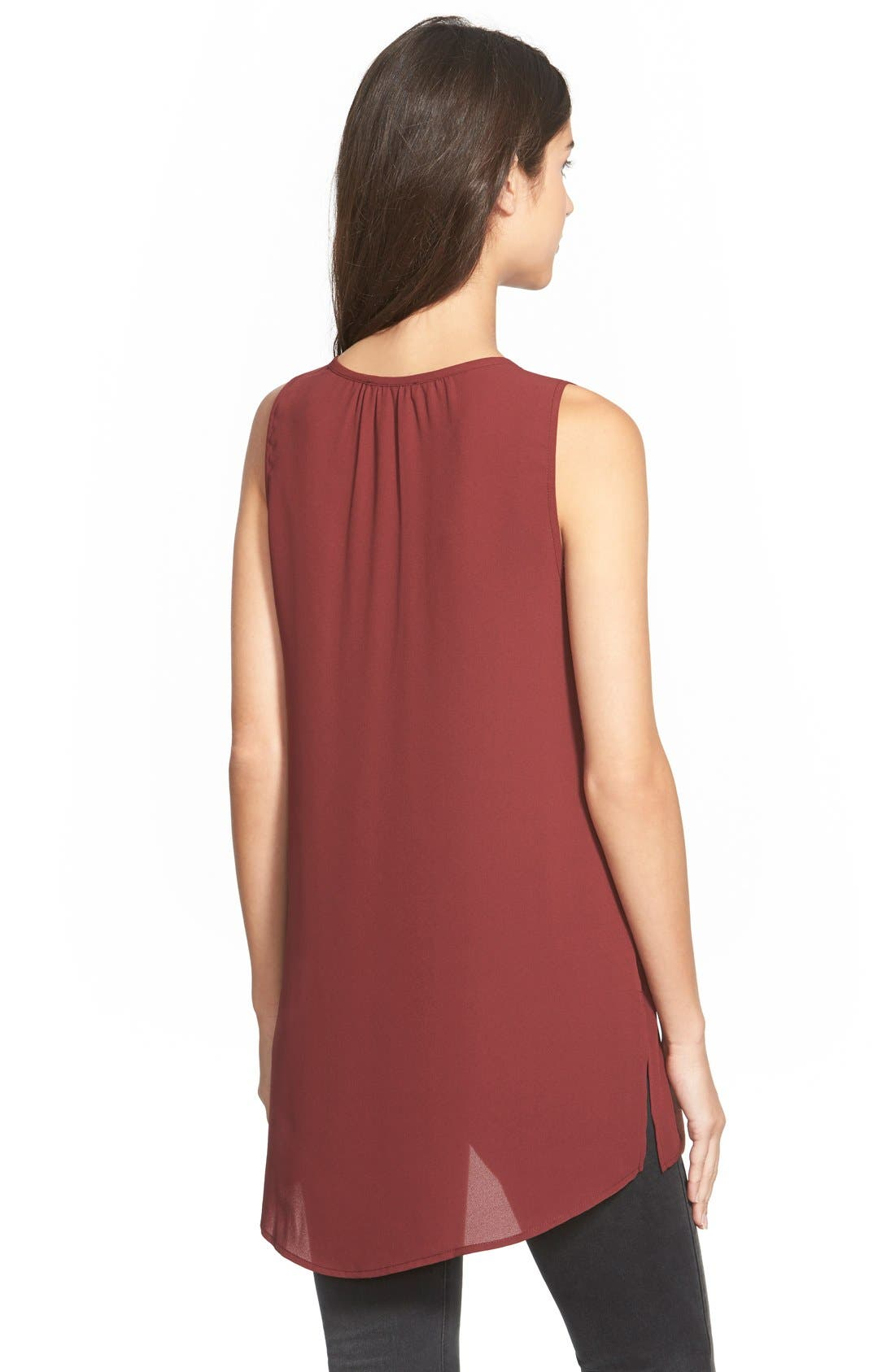 Alternate Image 2  - Lush Sleeveless High/Low Tunic Top