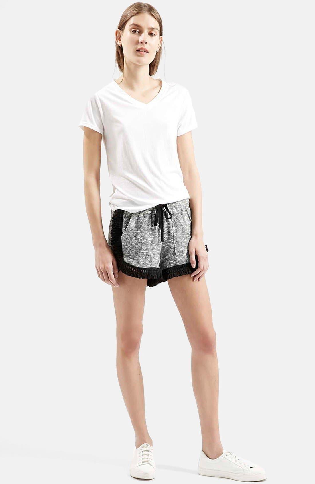 Alternate Image 2  - Topshop Fringe Drawstring Shorts