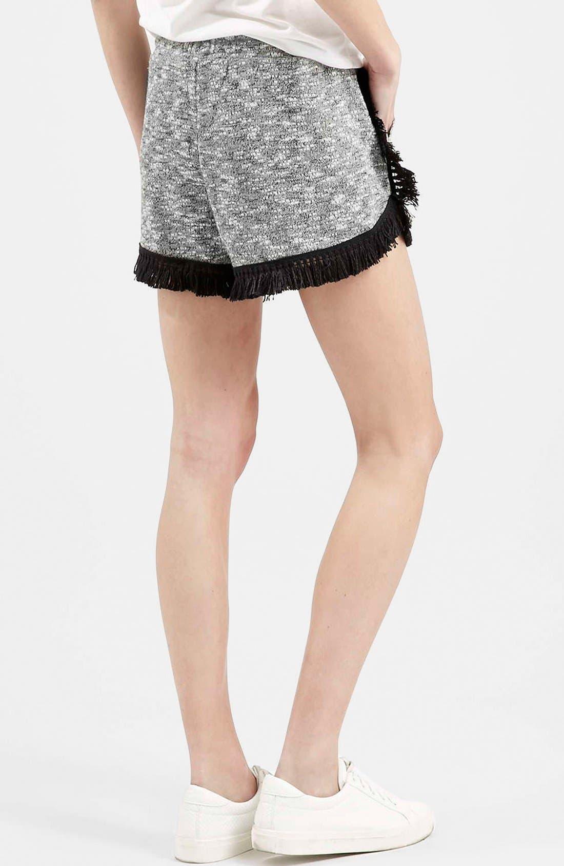 Alternate Image 3  - Topshop Fringe Drawstring Shorts