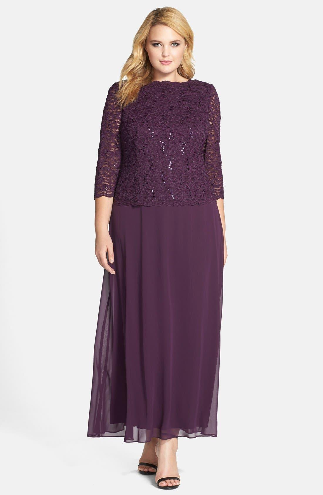 Alex Evening Dresses Plus Size Formal Dresses