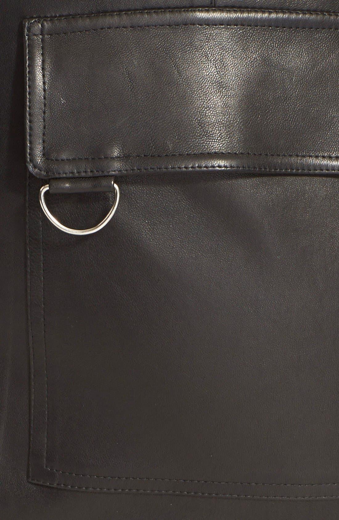 Alternate Image 3  - A.L.C. 'Abigail' Leather Pencil Skirt