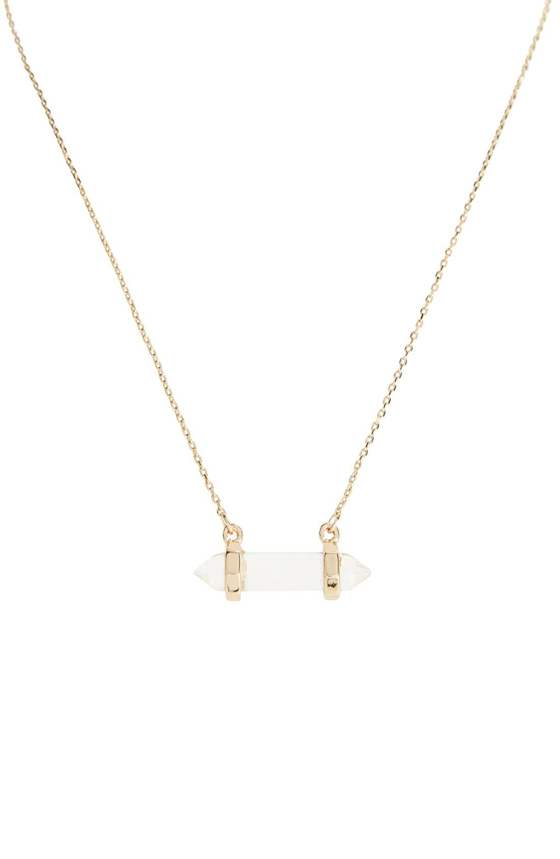Main Image - Sole Society Crystal Pendant Necklace