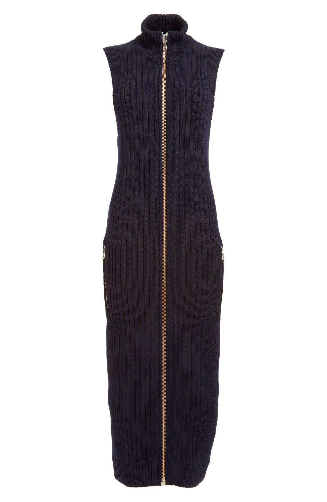 Alternate Image 4  - ACNE Studios 'Benita Clean' Zip Front Sweater Dress