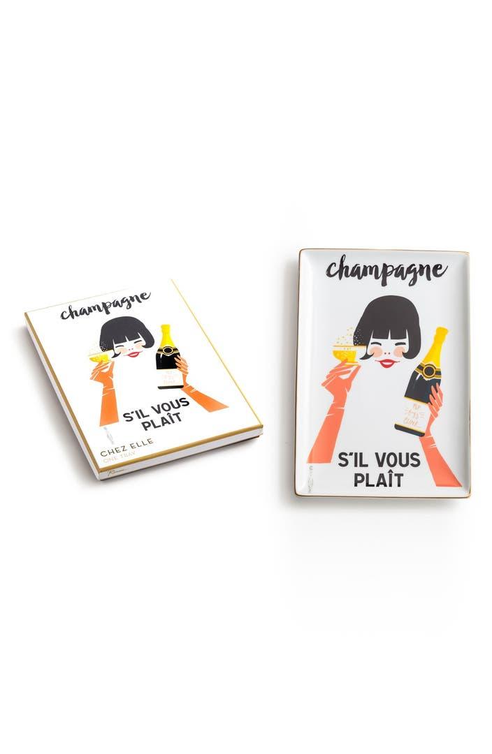 rosanna 39 champagne s 39 il vous pla t 39 porcelain tray nordstrom. Black Bedroom Furniture Sets. Home Design Ideas