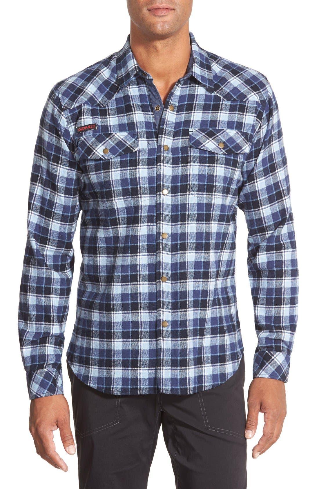 Gramicci 'Off Trail' Regular Fit Flannel Sport Shirt