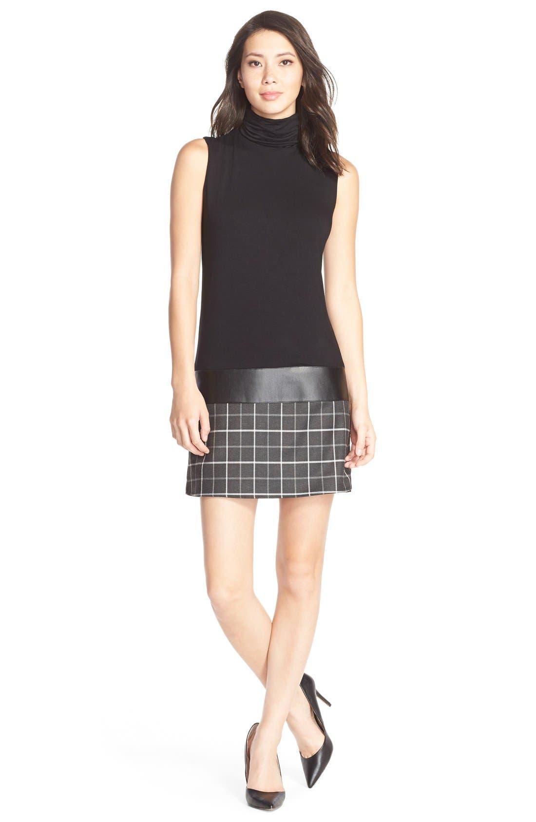 Alternate Image 1 Selected - B44 Dressed by Bailey 44 'Diane' Turtleneck Drop-Waist Dress