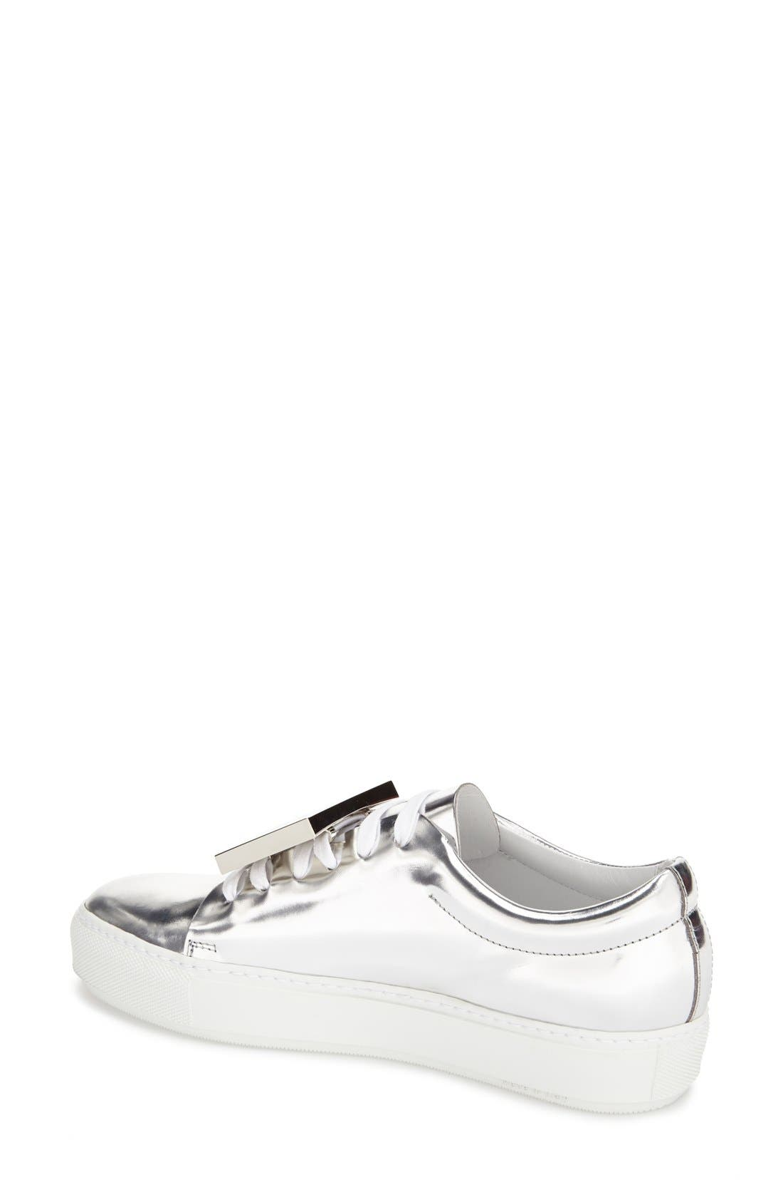 Alternate Image 2  - ACNE Studios 'Adriana' Silver Metallic Sneaker (Women)