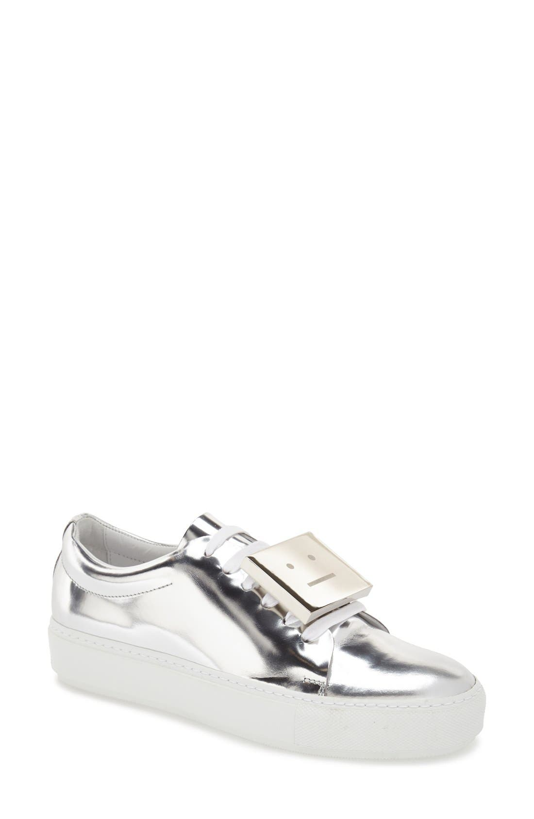 Alternate Image 1 Selected - ACNE Studios 'Adriana' Silver Metallic Sneaker (Women)