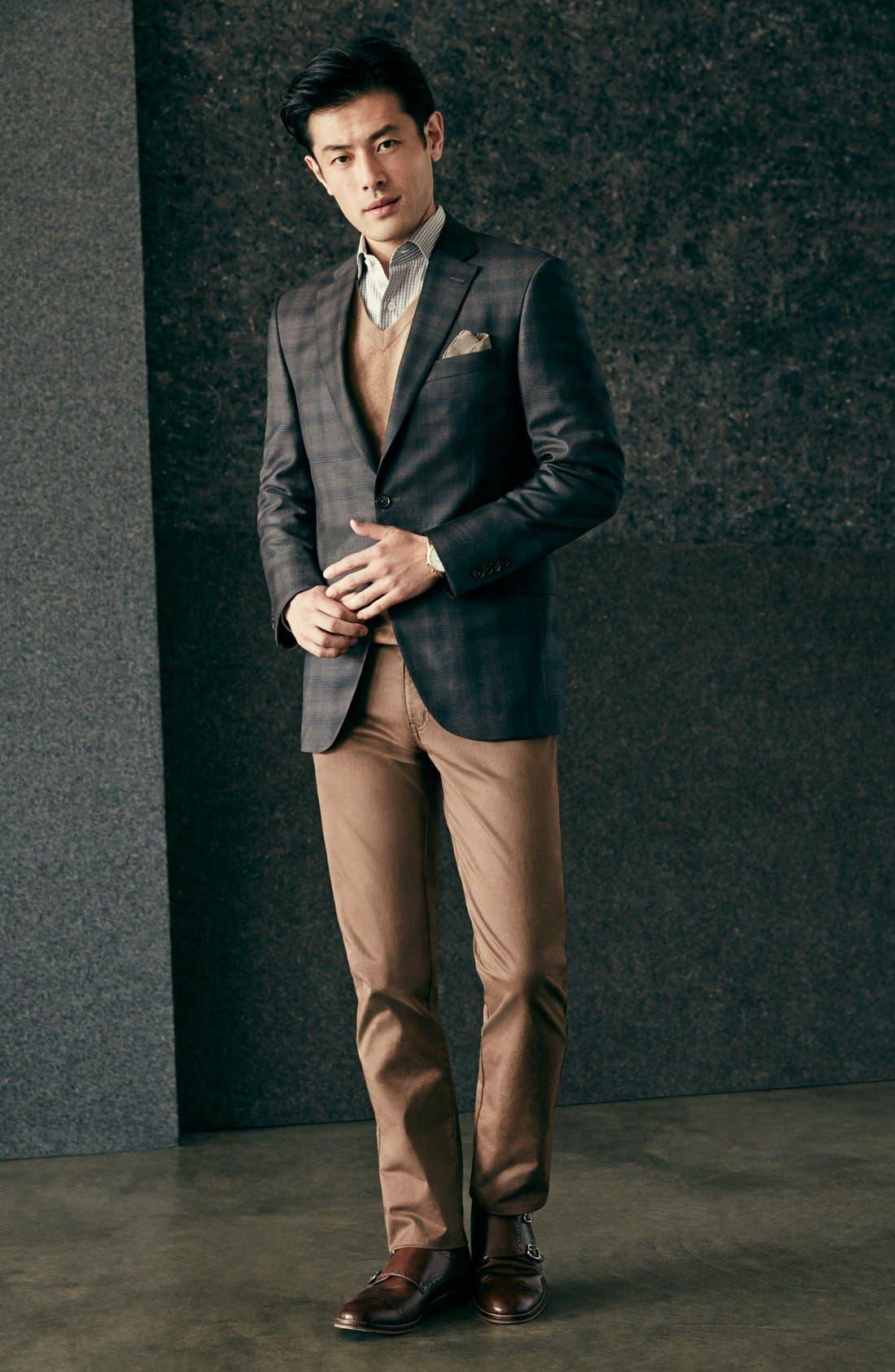 Alternate Image 6  - Nordstrom Men's Shop Cashmere V-Neck Sweater (Regular & Tall)