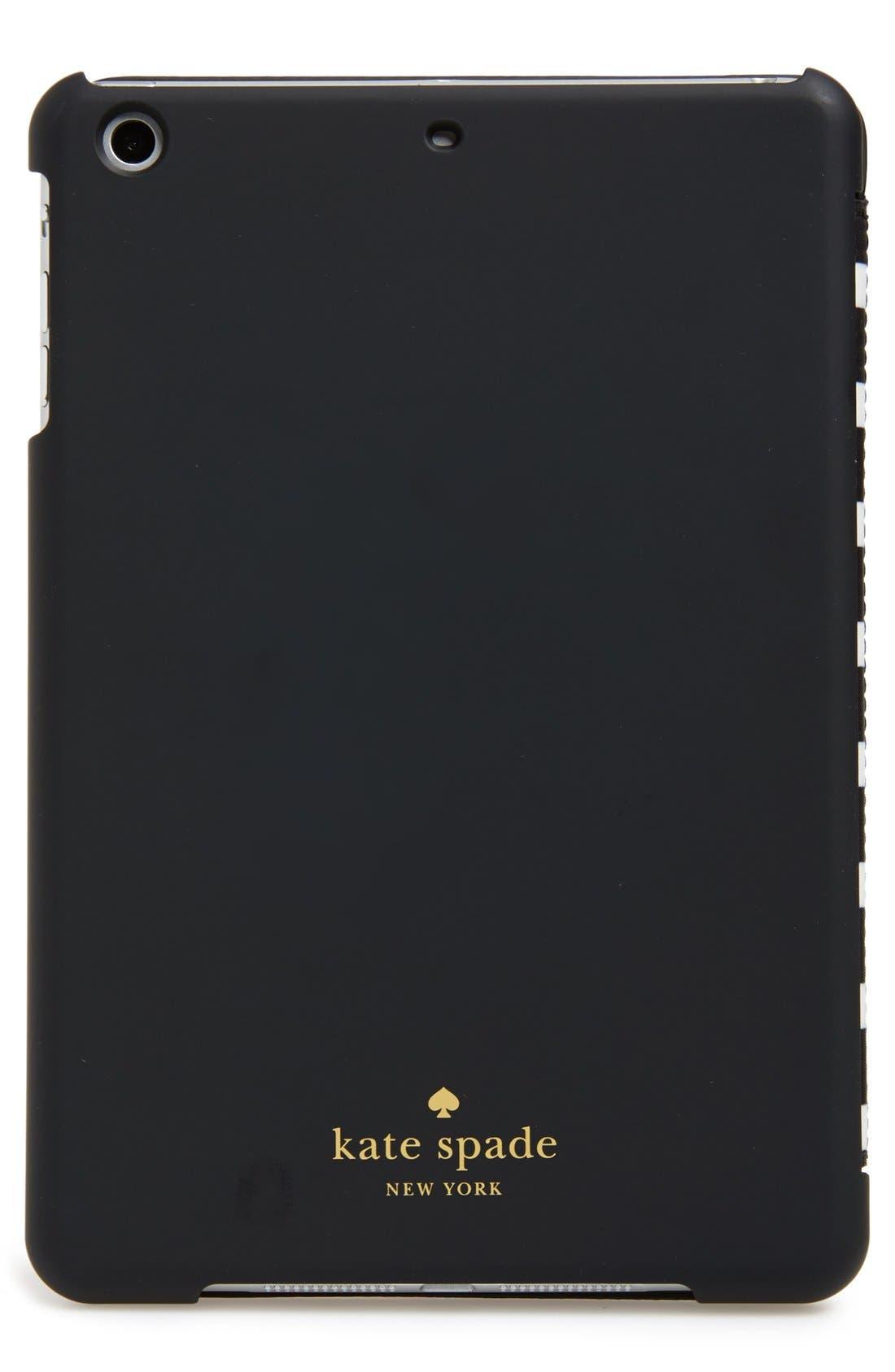 Alternate Image 4  - kate spade new york 'classic nylon stripe' iPad mini folio case