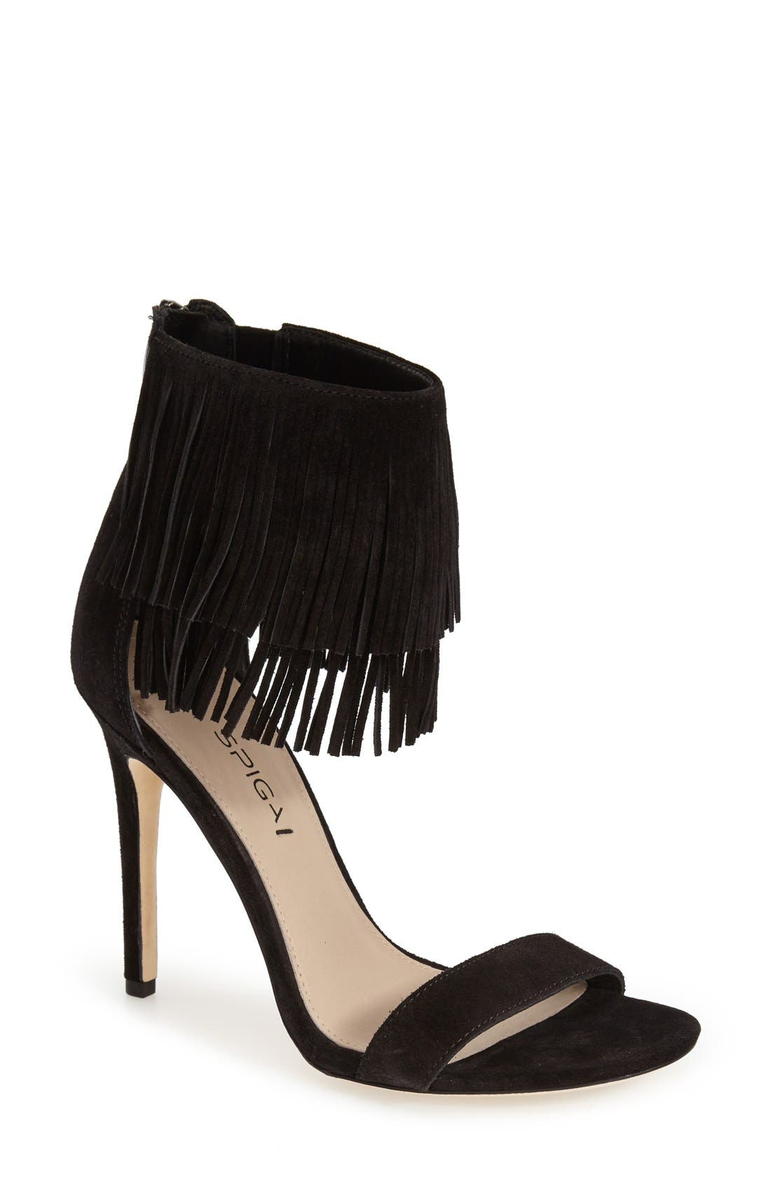 Alternate Image 1 Selected - Via Spiga 'Tabia' Fringe Sandal (Women)
