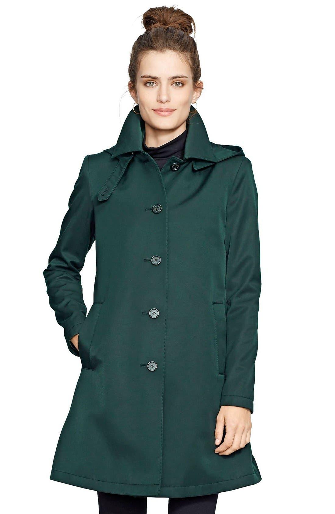 Alternate Image 1 Selected - Lauren Ralph Lauren A-Line Raincoat (Regular & Petite) (Nordstrom Exclusive)
