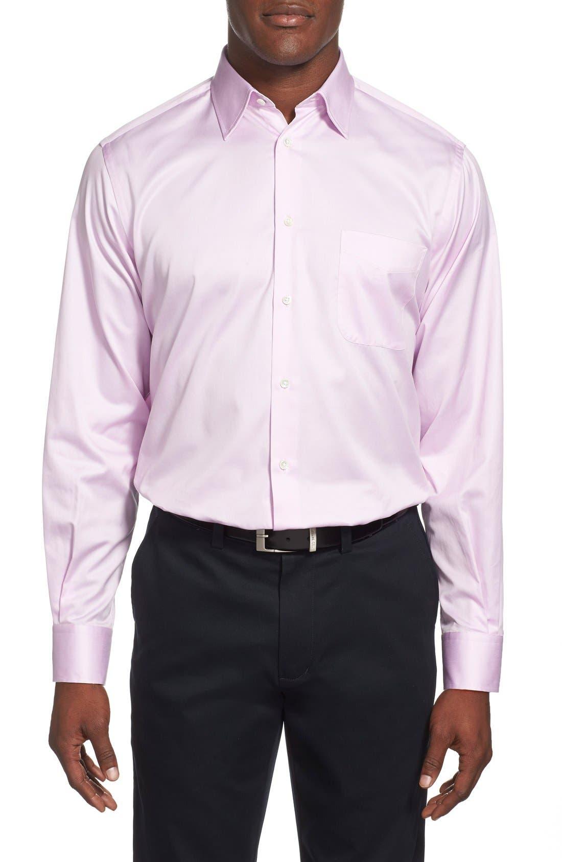 Alternate Image 2  - Ike Behar Regular Fit Solid Dress Shirt (Online Only)