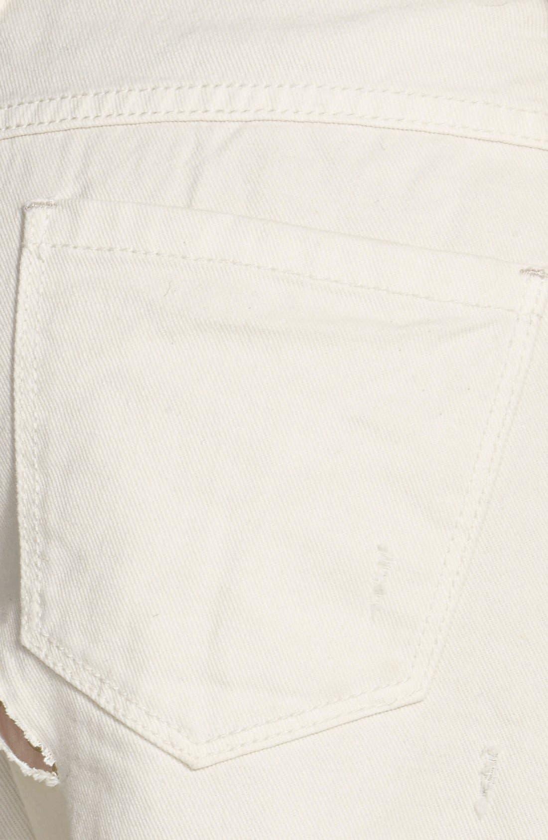 Alternate Image 3  - Free People 'Runaway' Cutoff Denim Shorts (Polar White)