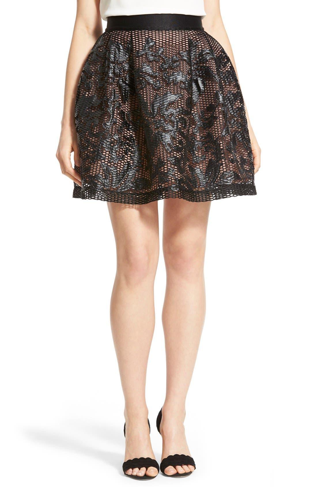 Main Image - Chelsea28 Appliqué Skirt
