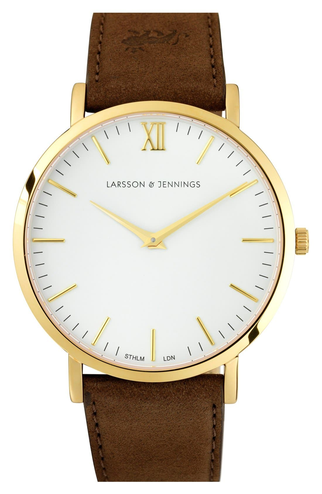 LARSSON & JENNINGS 'Lugano' Short Strap Leather Watch,