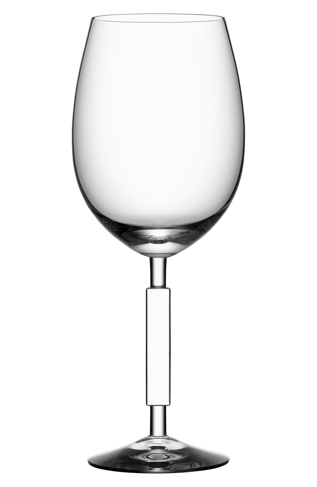 ORREFORS 'Unique' Red Wine Glass