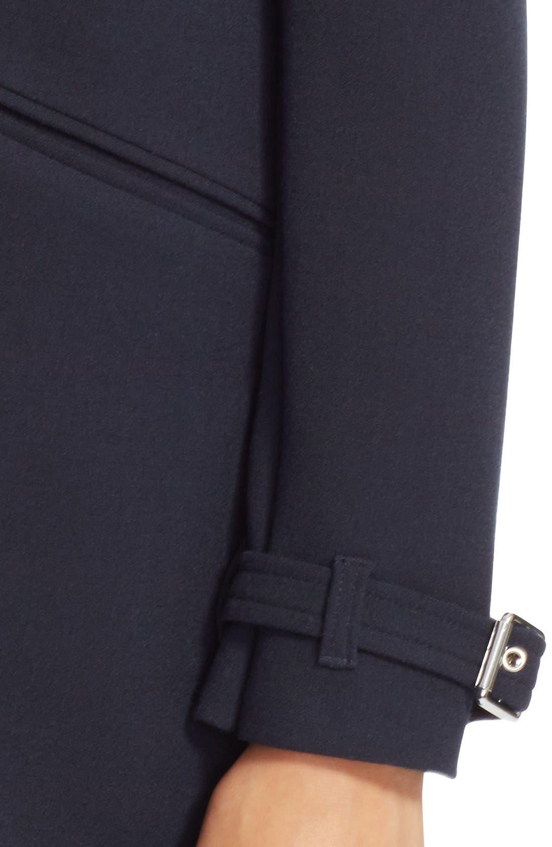 Alternate Image 4  - Lauren Ralph Lauren Crepe A-Line Coat