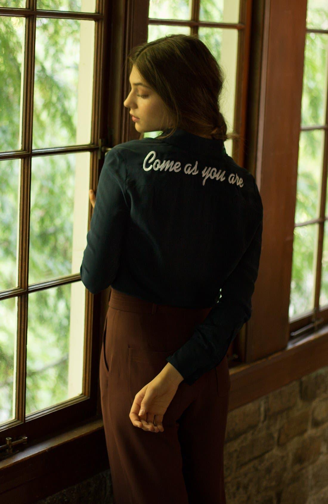 Alternate Image 5  - DRESSHIRT'Come As You Are' Silk Shirt (Women)