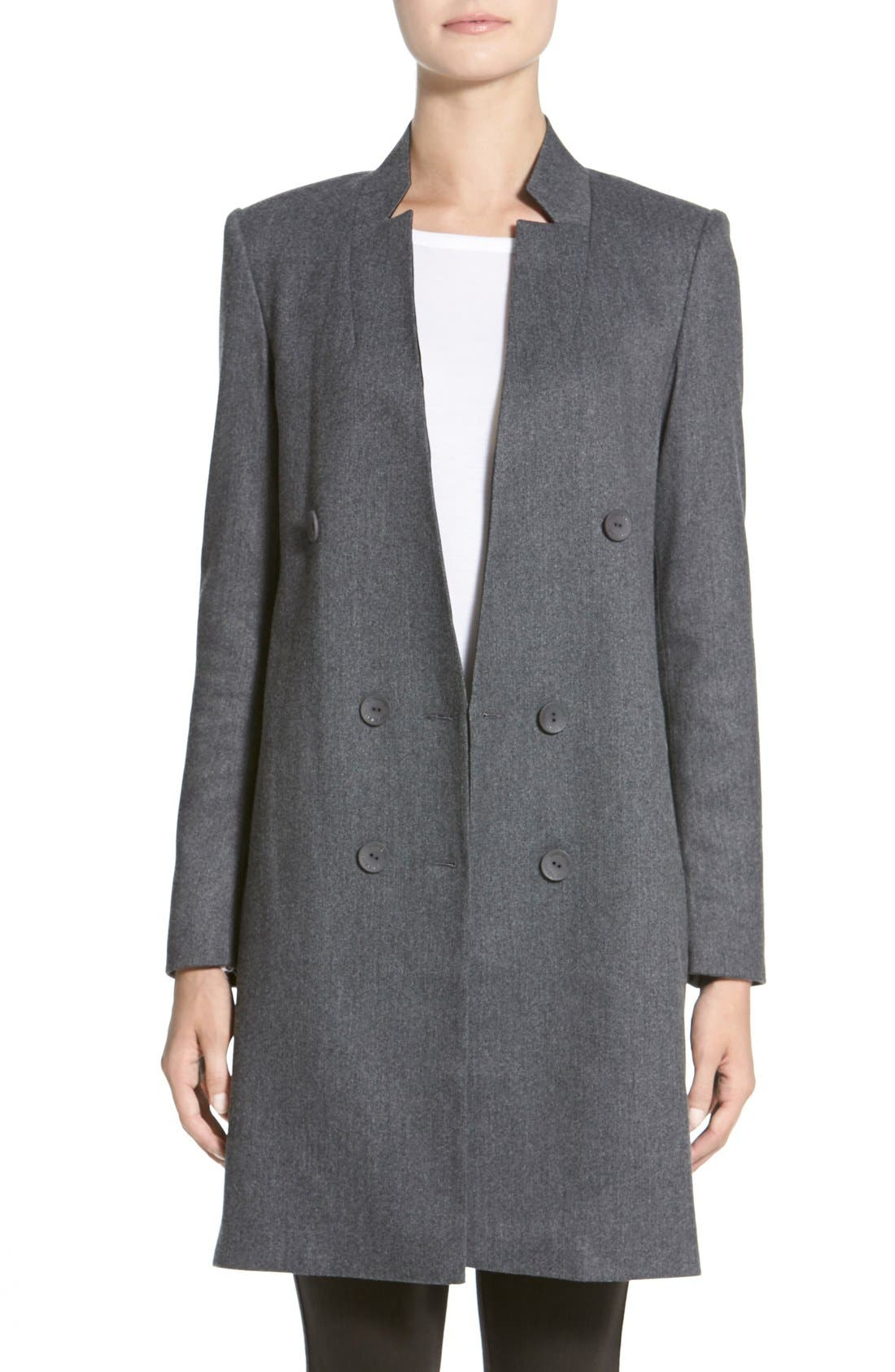 Main Image - James Jeans Double Breasted Car Coat
