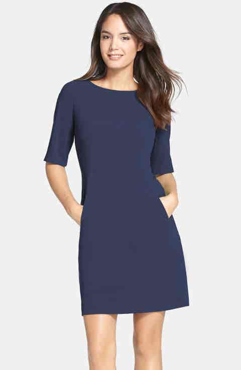 Tahari Seamed A-Line Dress (Regular   Petite)