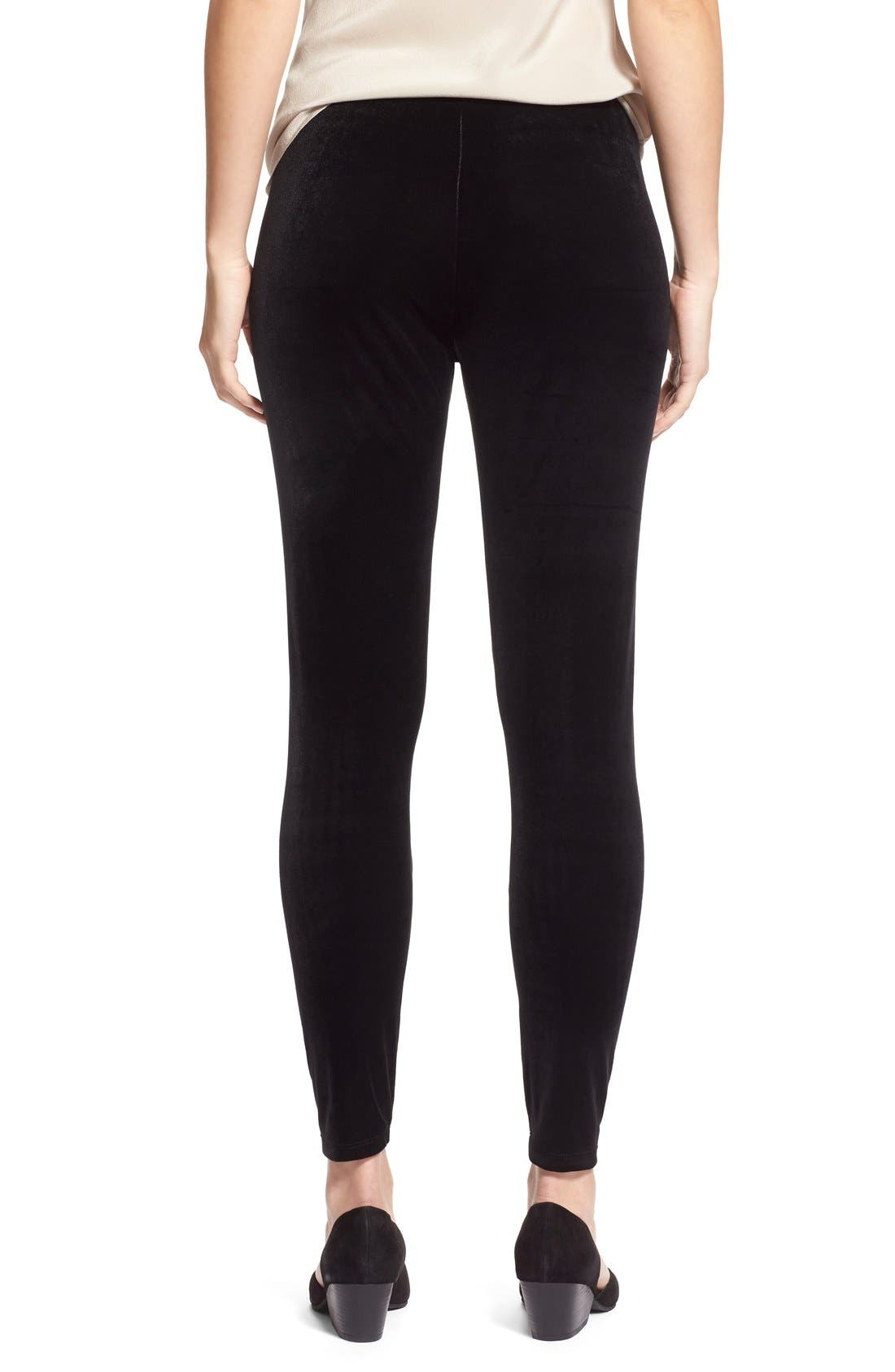 Alternate Image 3  - Eileen Fisher Stretch Velvet Leggings (Regular & Petite)