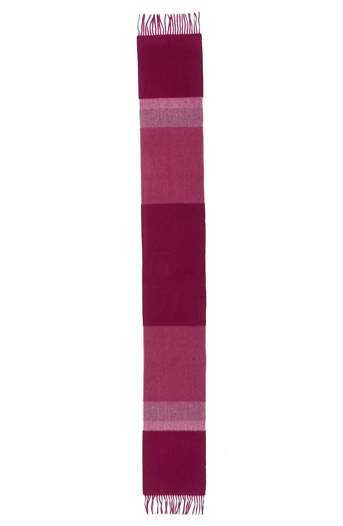 Alternate Image 2  - Nordstrom Stripe Cashmere Scarf