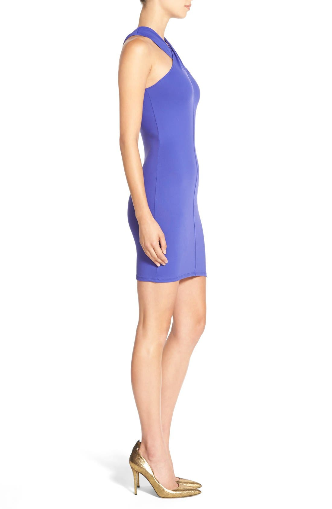 Alternate Image 3  - Leith Cross Neck Body-Con Dress