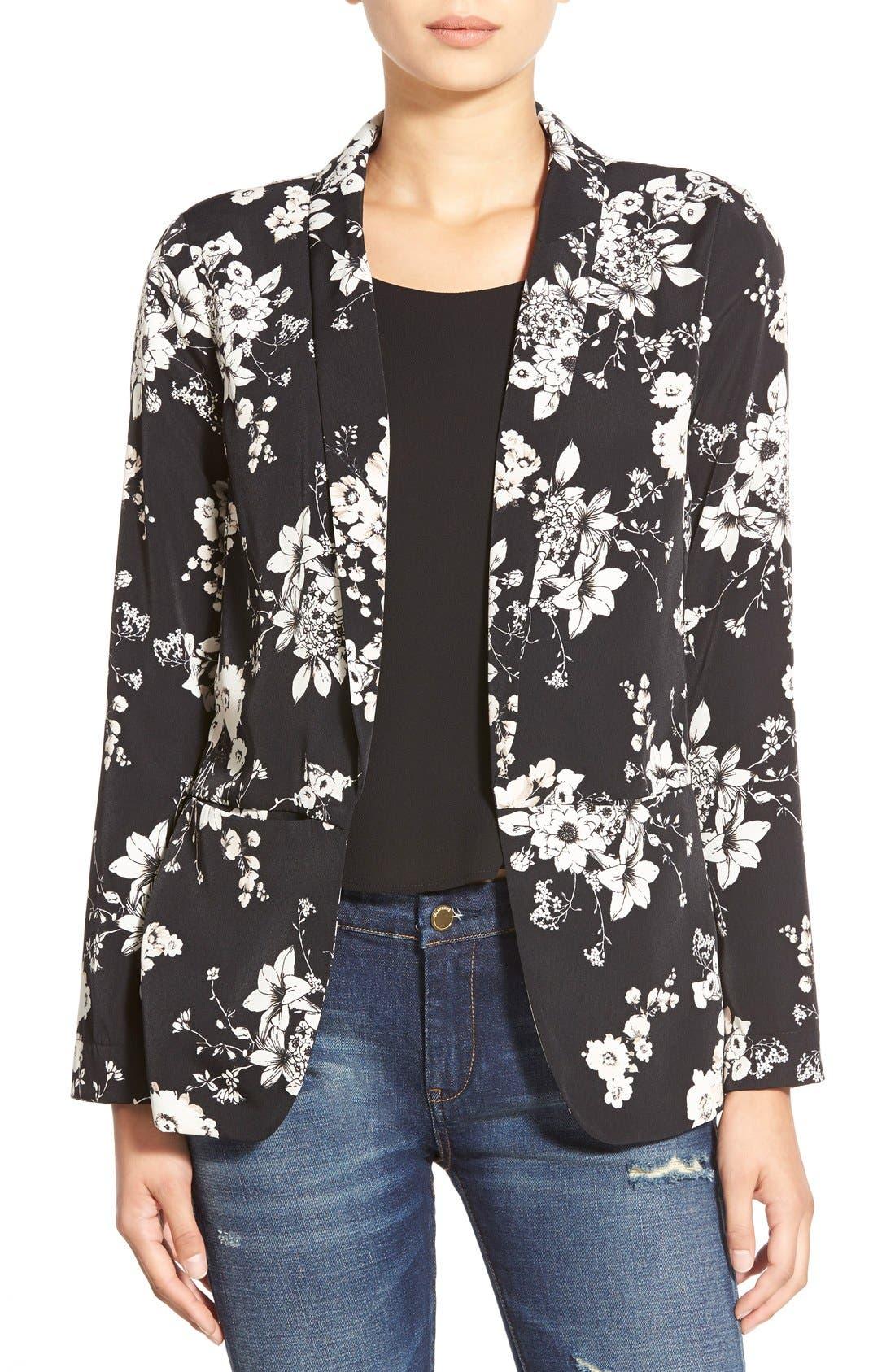 Main Image - ASTR Floral Print Blazer