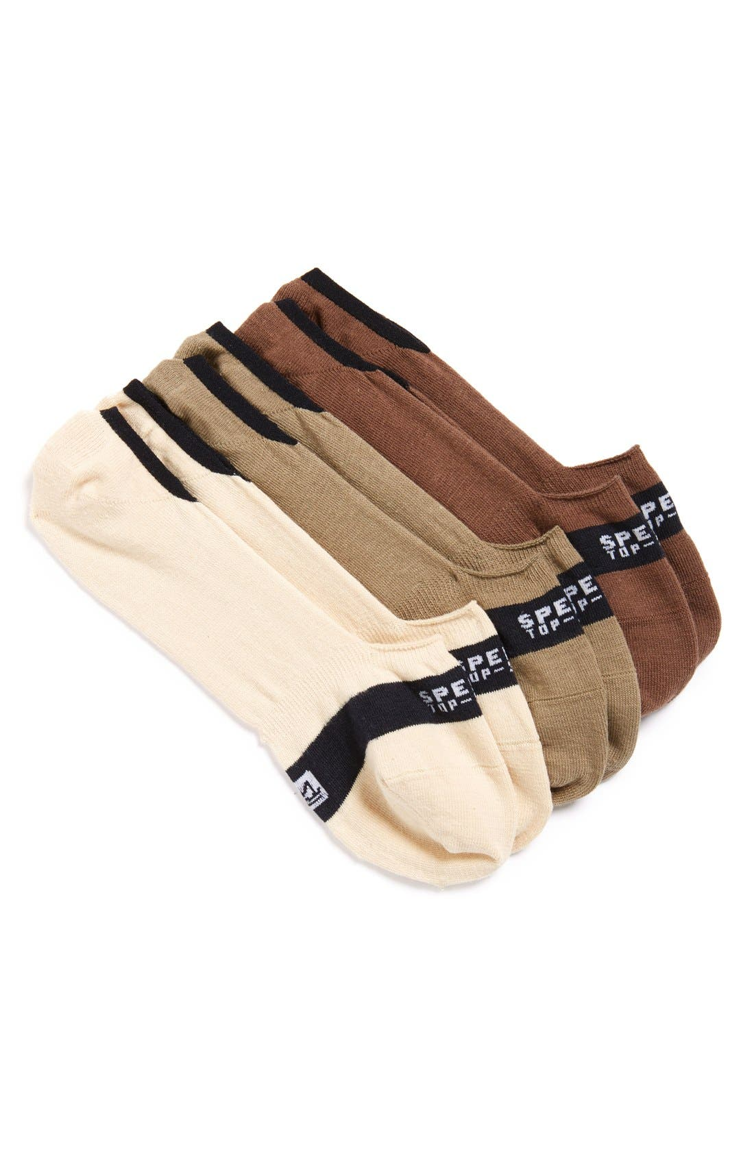 Sperry Cotton Blend No-Show Socks (Assorted 3-Pack)