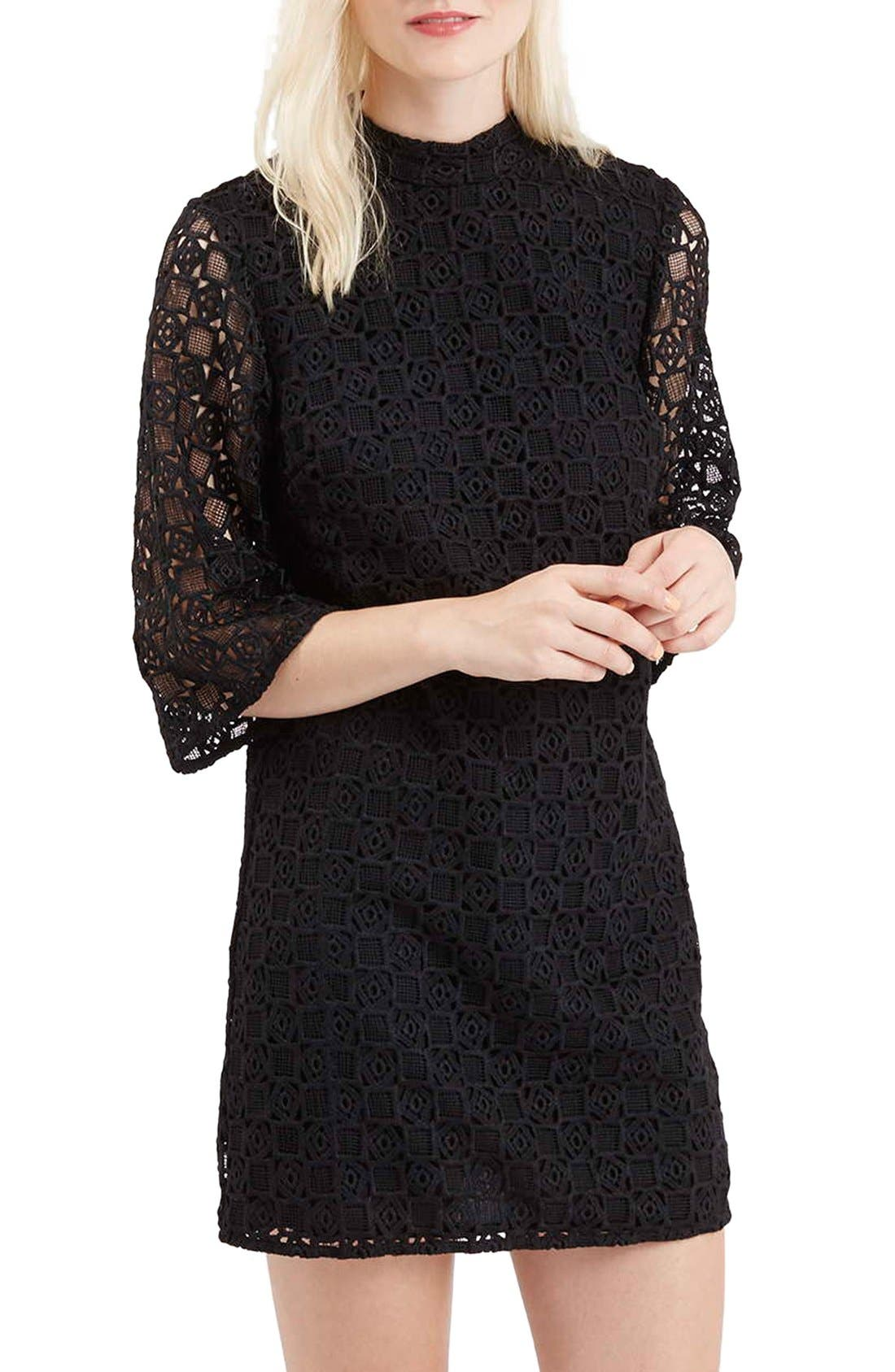 Main Image - Topshop Bell Sleeve Lace Dress