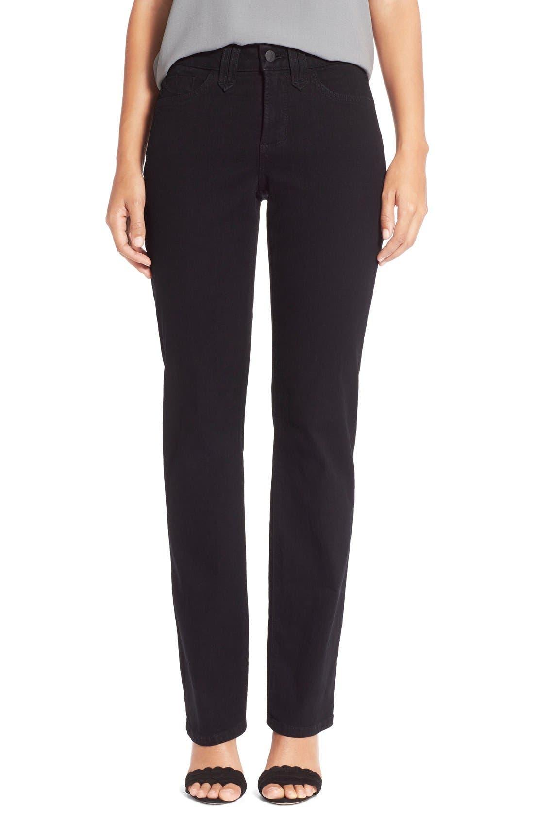 Alternate Image 1 Selected - NYDJ 'Marilyn' Stretch Straight Leg Jeans (Regular & Petite)