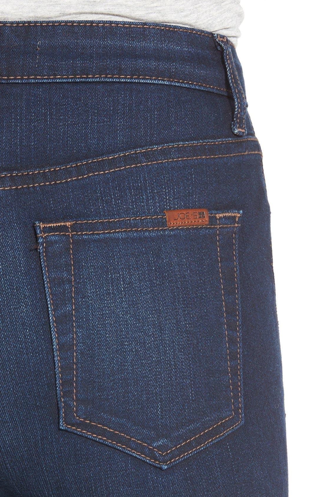 Alternate Image 4  - Joe's 'Flawless -Charlie' High Rise Skinny Jeans (Cecily)