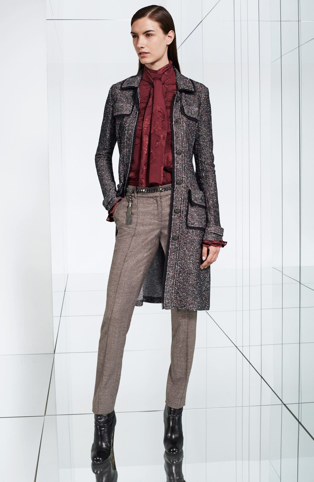 Alternate Image 6  - St. John Collection Flecked Tweed Knit Topper