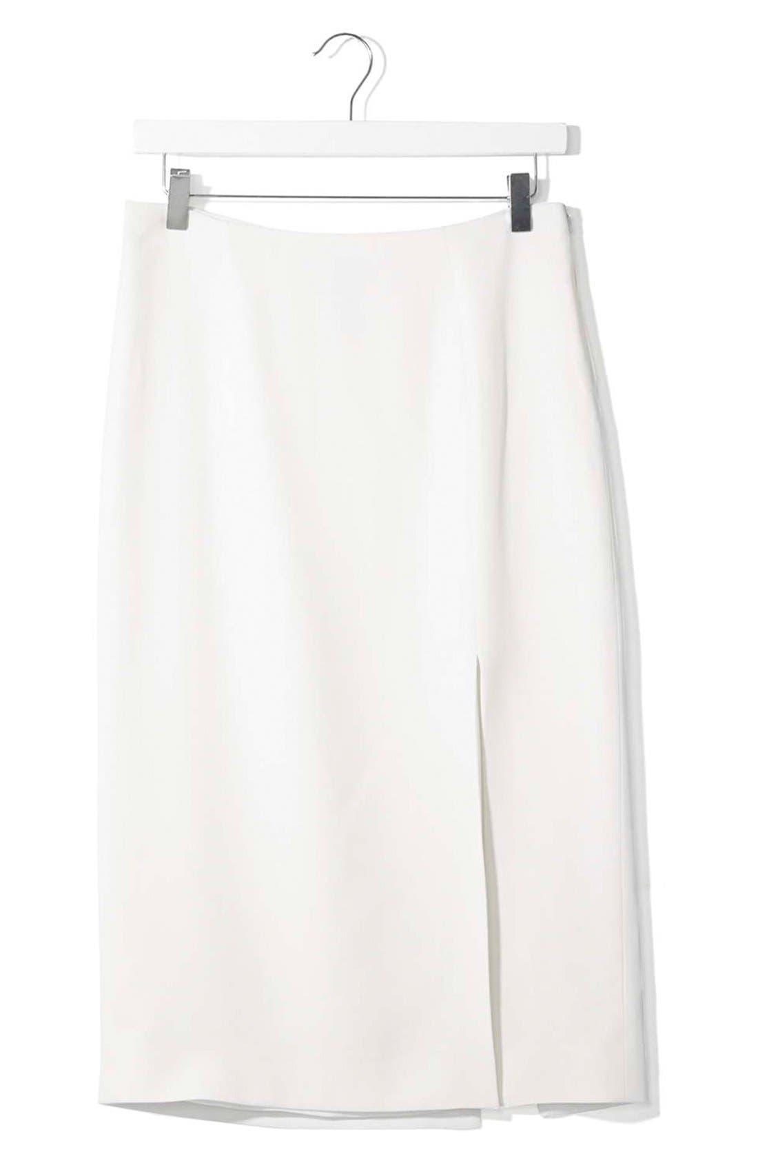 Alternate Image 4  - Topshop Boutique Side Slit Midi Skirt