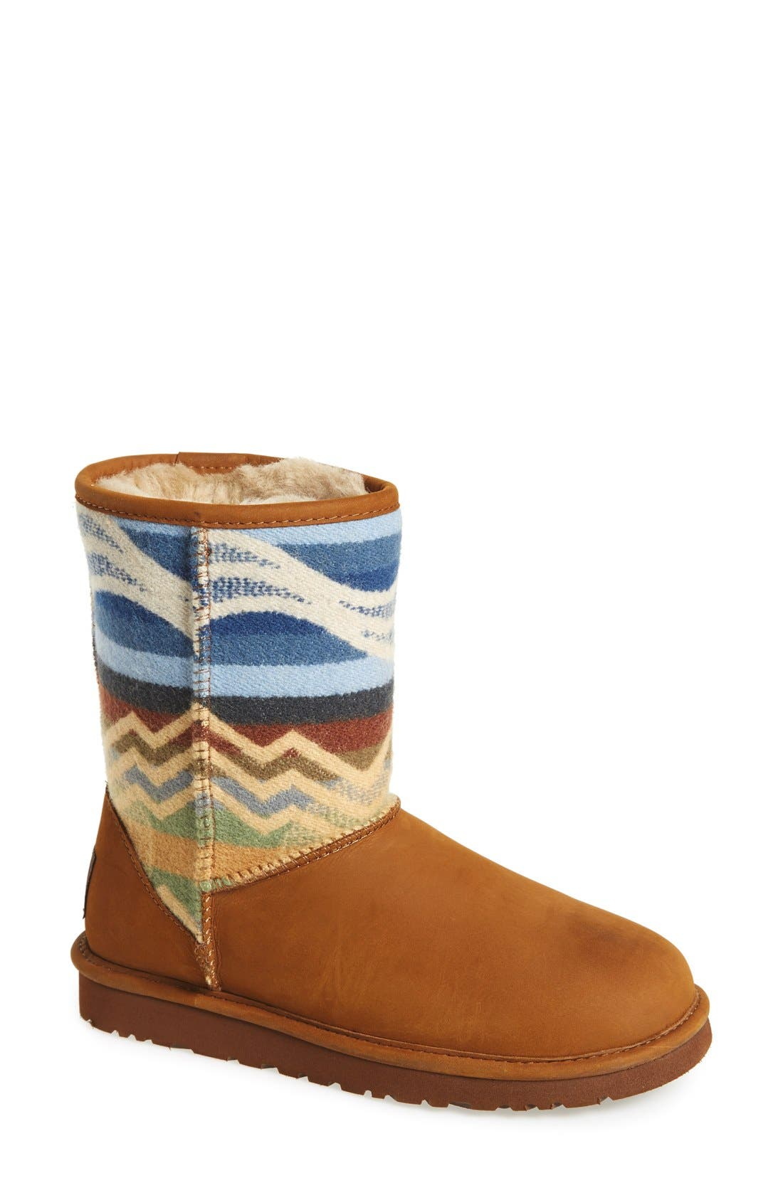 Alternate Image 1 Selected - UGG® 'Classic Short Pendleton' Boot (Women)