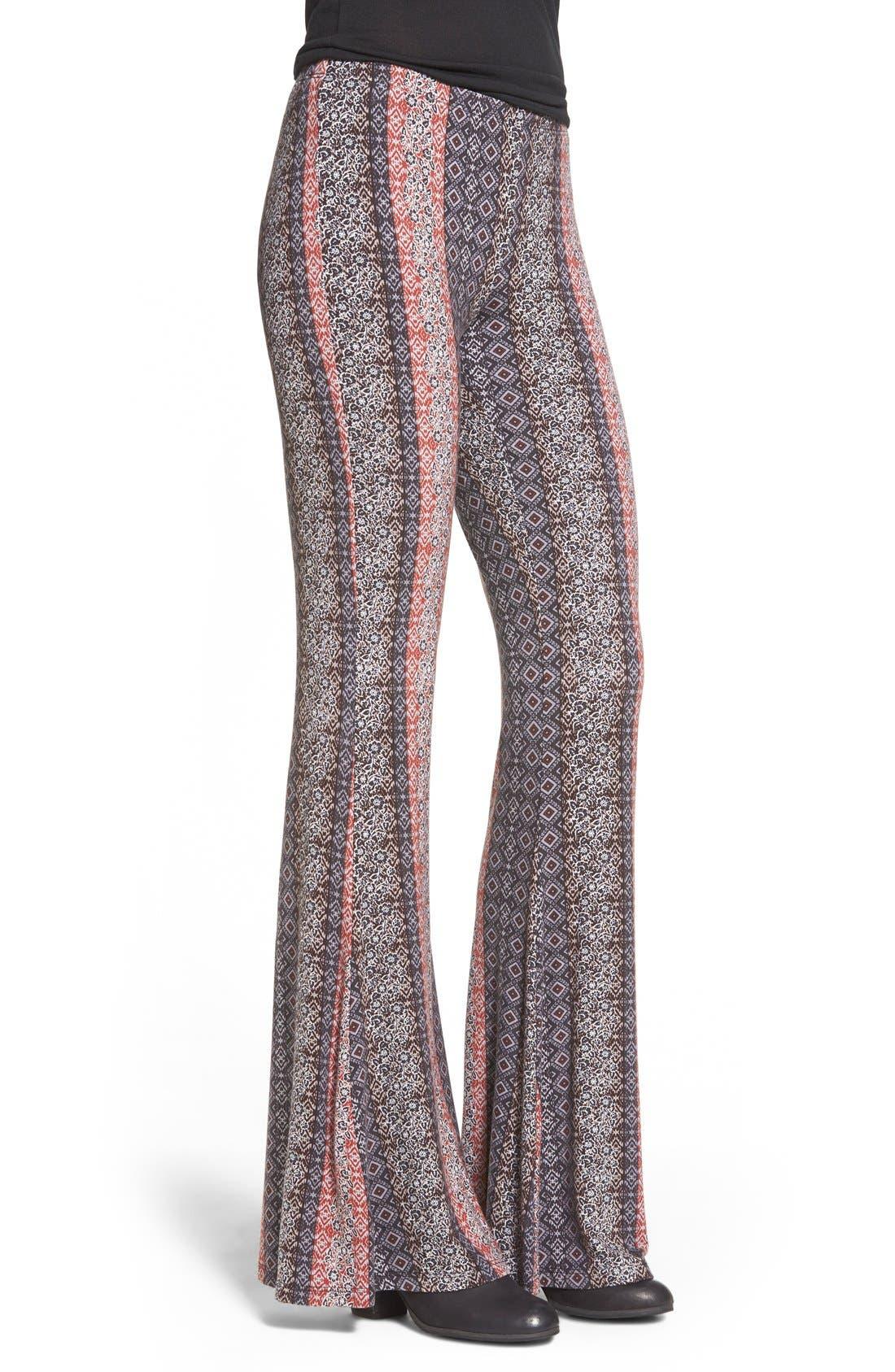 Alternate Image 3  - h.i.p. Mixed Print Flare Leg Pants