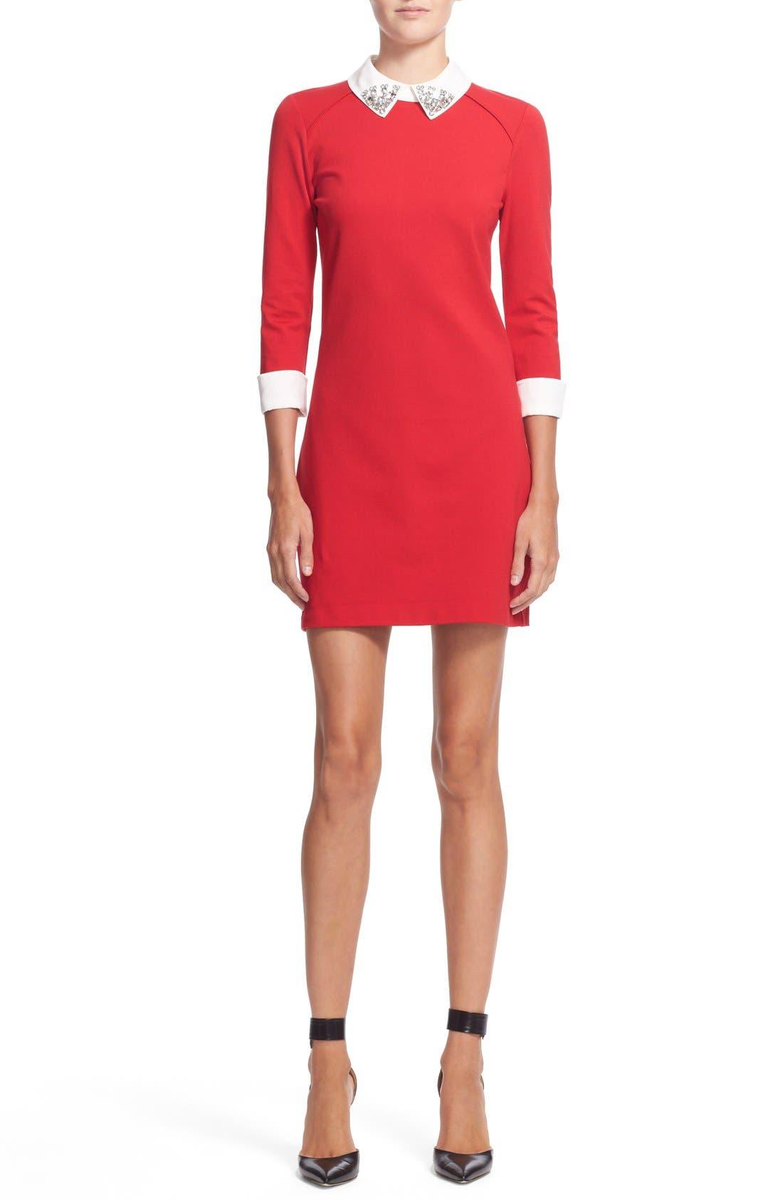 Alternate Image 1 Selected - Ted Baker London 'Eelah' Embellished Collar Shift Dress